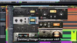 Comparison of 1176 compressor plug-ins on drums
