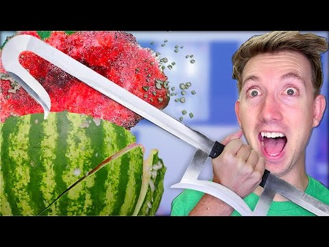 5 Mortal Kombat Weapons vs Fruit Ninja