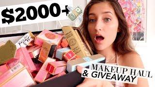 HUGE $2000+ MAKEUP HAUL & GIVEAWAY!!