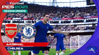 PES 2021 Gameplay | Arsenal vs. Chelsea