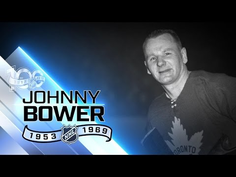 Johnny Bower led Leafs to four Stanley Cup titles