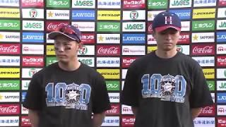 ファイターズ・上沢投手・矢野選手のヒーローインタビュー動画。 2017/0...