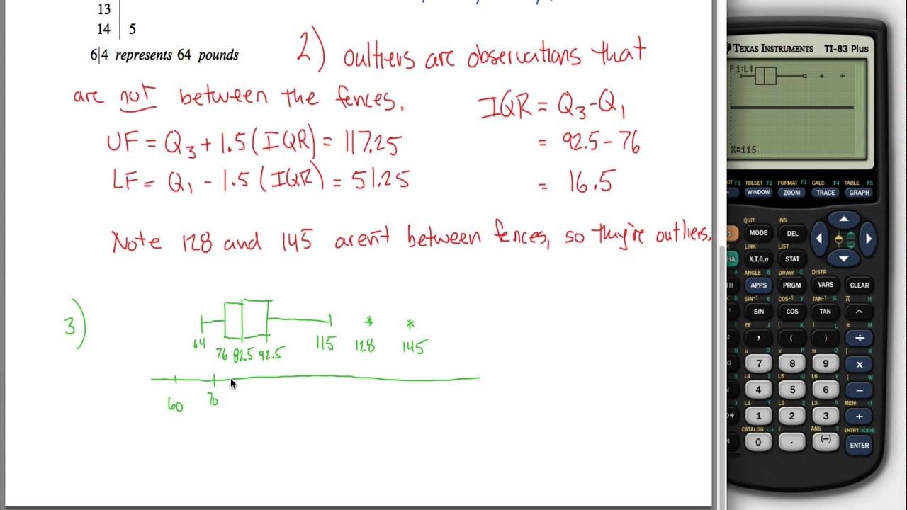 Box Plot Percentile Z Score Example