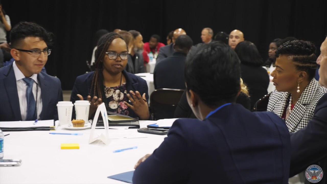 Mayor Keisha Lance Bottoms attends the 100K Opportunities Job Fair