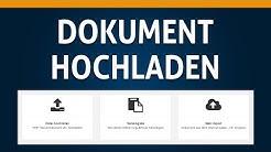 02 Ein Dokument hochladen - PlagScan