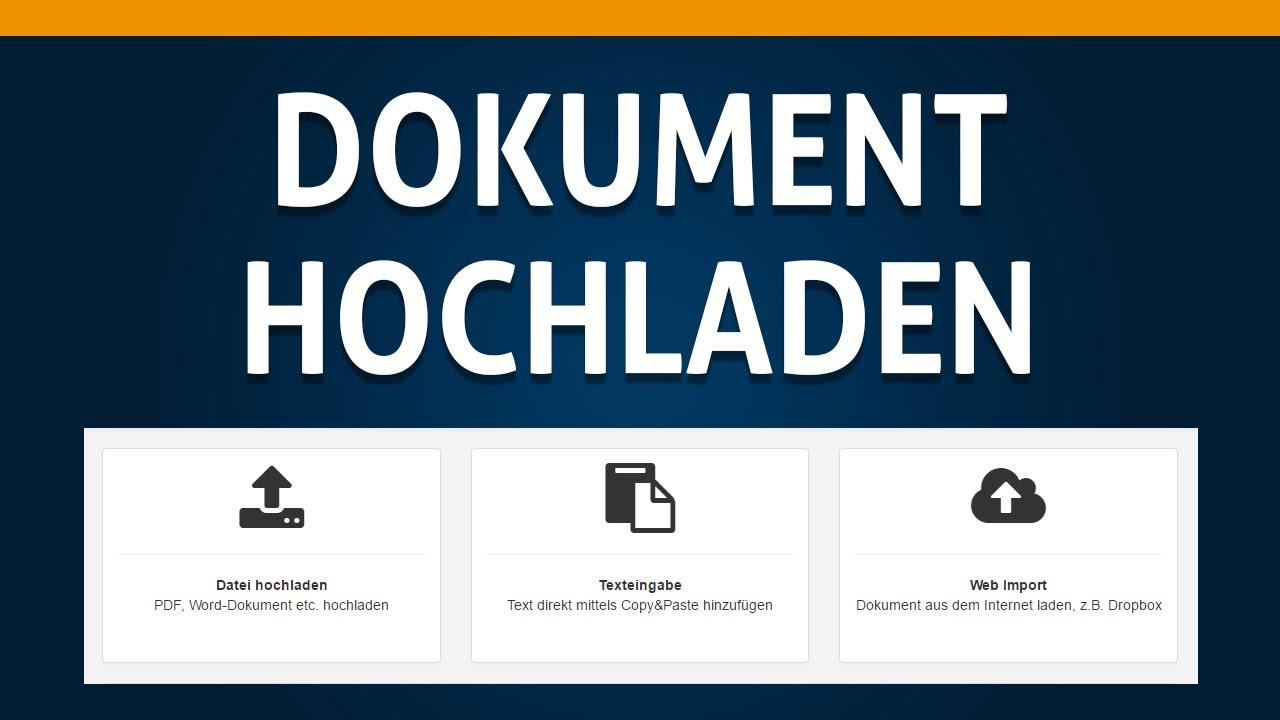 Dokumente Hochladen