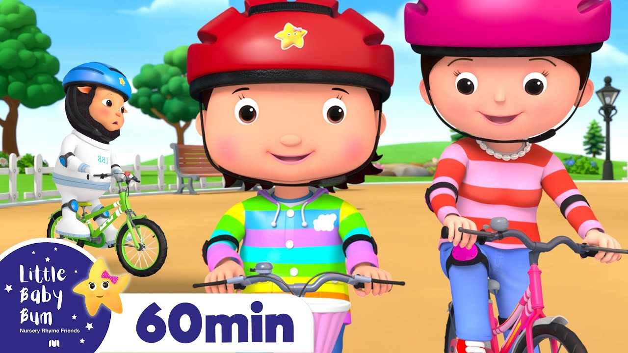 Learn to Ride a Bike Song! +More Nursery Rhymes and Kids Songs | Little Baby Bum