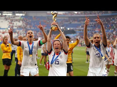 Watch : US Women&39;s Soccer Team Celebrates World Cup Win  NBC News