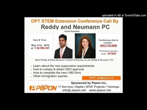 OPT Stem Extension  Conference Call - Pepon Inc,