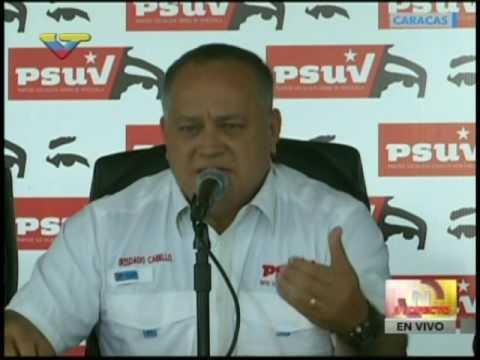 Diosdado Cabello, rueda de prensa del PSUV tras intento de golpe parlamentario, 24/10/2016
