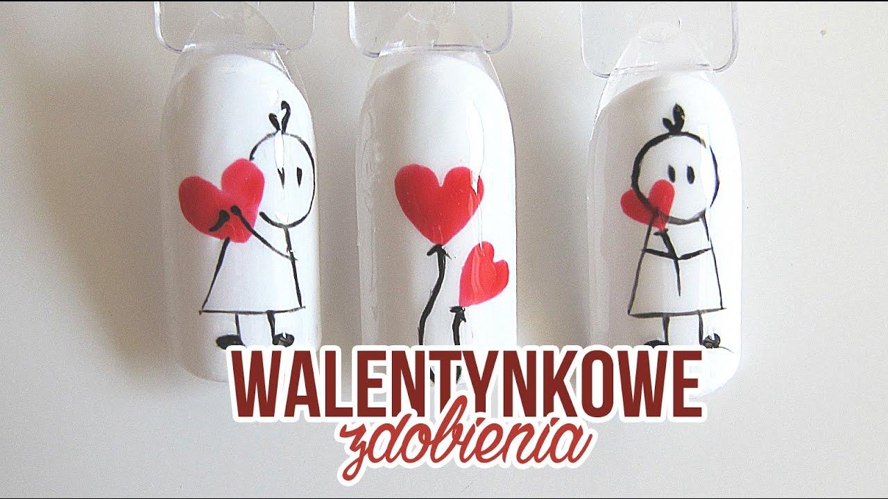 Walentynkowe Paznokcie Zdobienia Na Walentynki Valentines Day