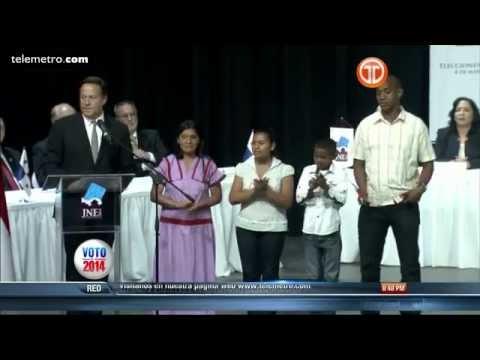 Discurso de Proclamación del Presidente Electo Juan Carlos Varela
