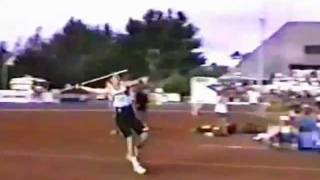 Steve Backley's 91.46m javelin throw world record