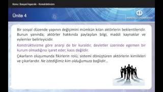 ULUSLARARASI İLİŞKİLER KURAMLARI II - Ünite4 Özet