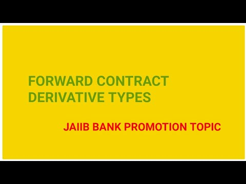Forward Contract Derivative Types