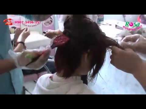 Nhuộm tóc tone màu đỏ