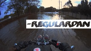 Rain, hail and motorcycle. BRISBANE STORM | VLOG