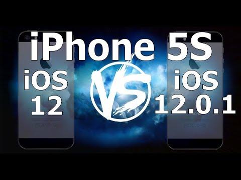 Speed Test : iPhone 5S - iOS 12.0.1 vs iOS 12.0  (iOS 12.0.1 Build 16A404)