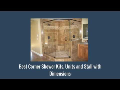 Best Corner Shower Kits, Units and Stall with Dimensions - YouTube