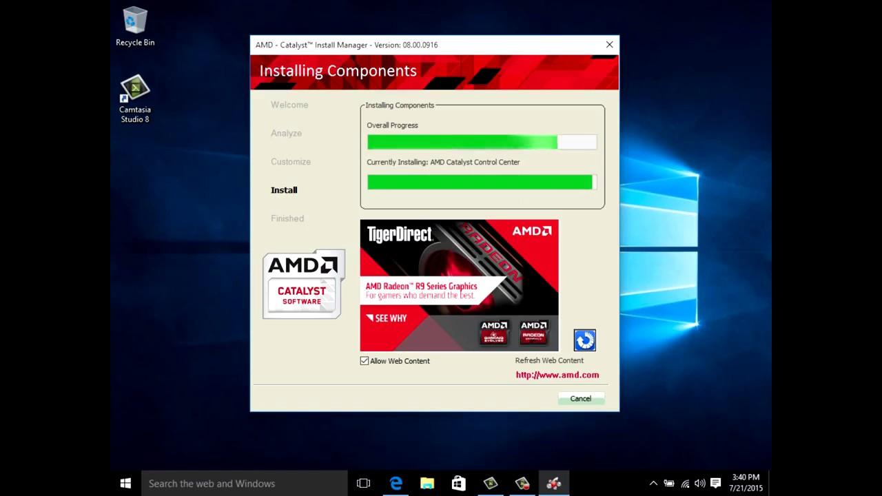 how to update drivers windows 10 amd