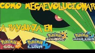 Como megaevolucionar a Rayquaza en Pokémon Sol, Luna, UltraSol y UltraLuna
