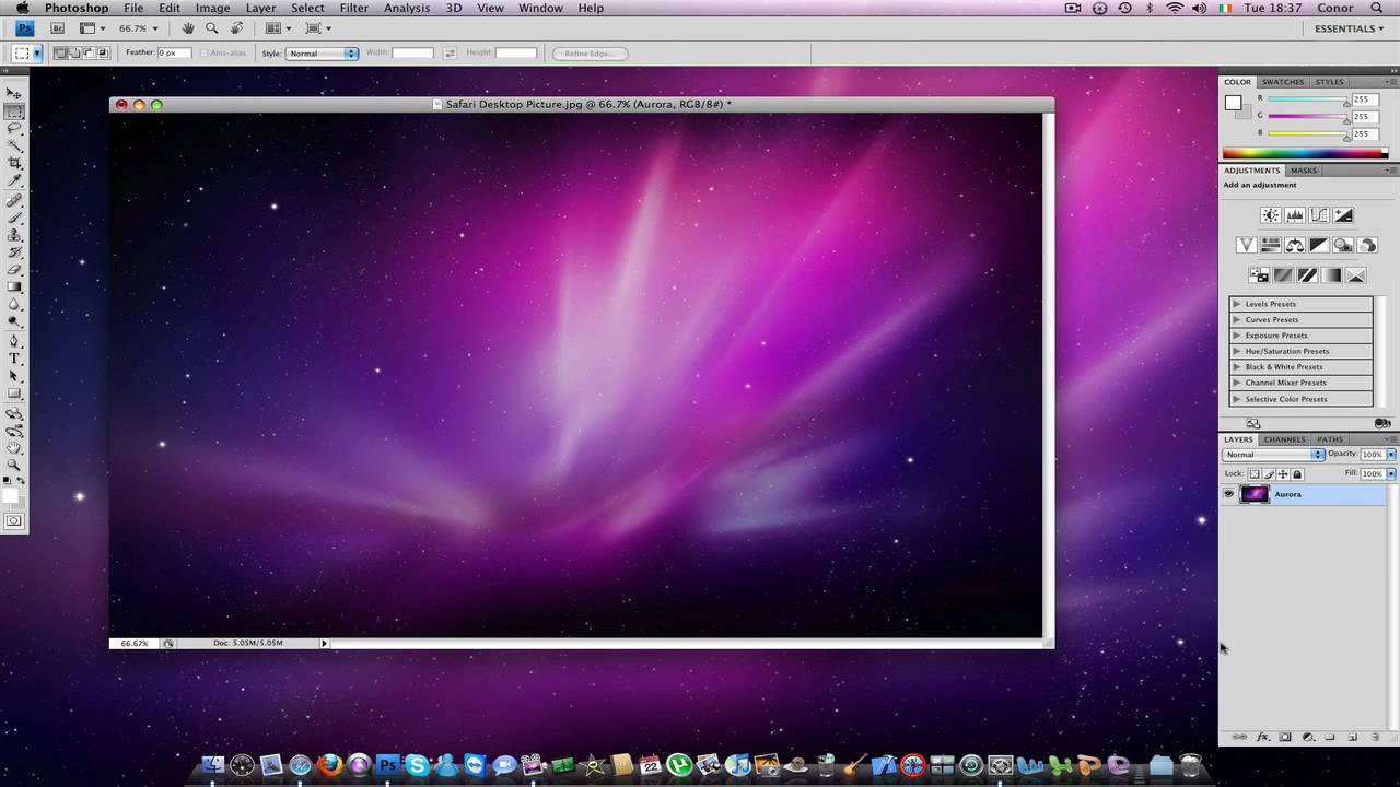 mac tutorial how to change the colour of the aurora