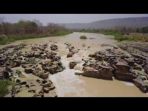White Volta River Rapids near Gambaga, Ghana (4K)