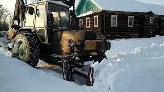 Расчистка снега на ЮМЗ 6