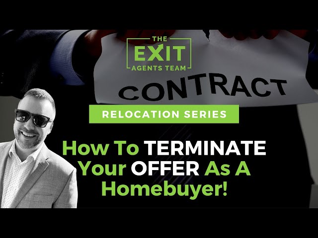 How To TERMINATE your OFFER as a HOMEBUYER!  Eugene Oregon Real Estate