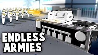 Endless Armies vs SUPER BASE Defense! (Men of War AS2 - Huaji Mod Ep 2)