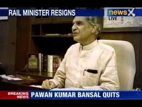 Rail minister Pawan Kumar Bansal resigns
