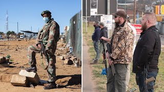 video: South Africa unrest: Militias fill lawless vacuum after worst violence since Apartheid