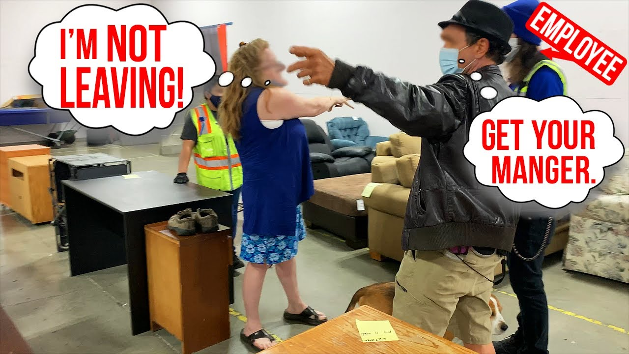 ALTERCATION at the BINS!  Everyone was on EDGE!  ( FIGHTS at the GOODWILL OUTLET. )