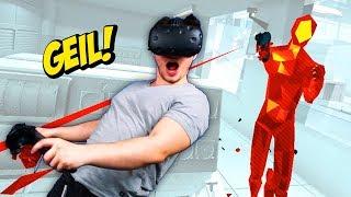SCHÜSSEN AUSWEICHEN UND ÜBERLEBEN !!   SUPERHOT VR