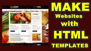 Make Simple Websites With HTML Templates| HTML Templates Se Simple Website Kaise Banaye