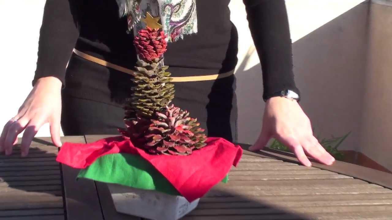 Adornos de navidad reciclados centro de mesa con pi as youtube - Adornos navidad reciclados para ninos ...