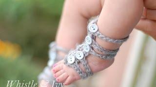 Baby Gladiator Barefoot Sandals Crochet Pattern