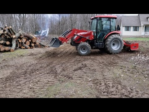 #405 RK 55 Compact Tractor And Excavator Finishing Up!