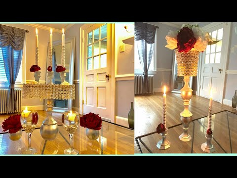EASY DOLLAR TREE GLAM HOME DECOR,WEDDING CENTERPIECE DIY 2019