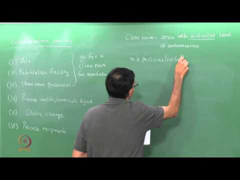 Mod-01 Lec-30 Clean room design and contamination control