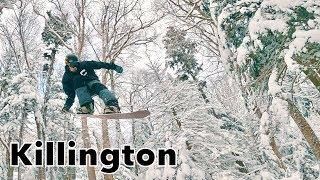 Epic Pow Day Snowboarding The Stash At Killington Mountain!