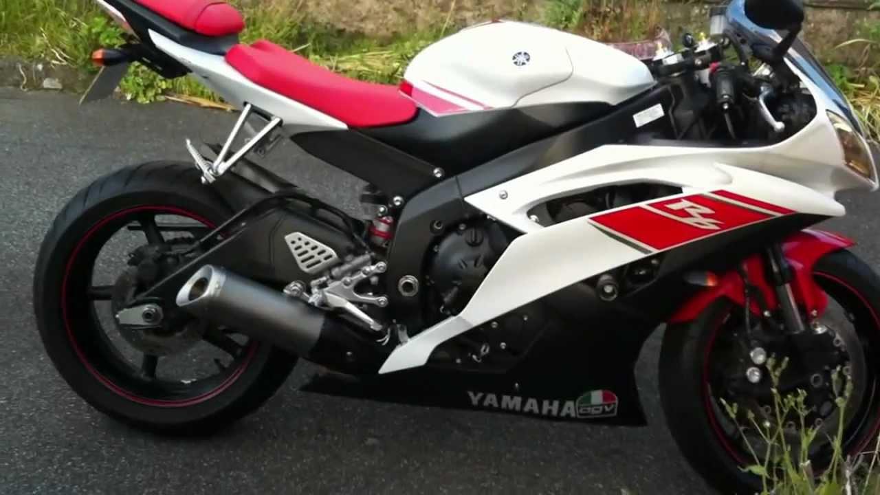 Yamaha R6 2008 exhaust sound - YouTube