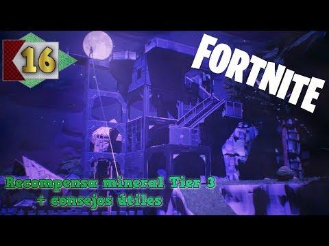 Fortnite #16 - Misión con mineral Tier 3 de recompensa + consejos útiles
