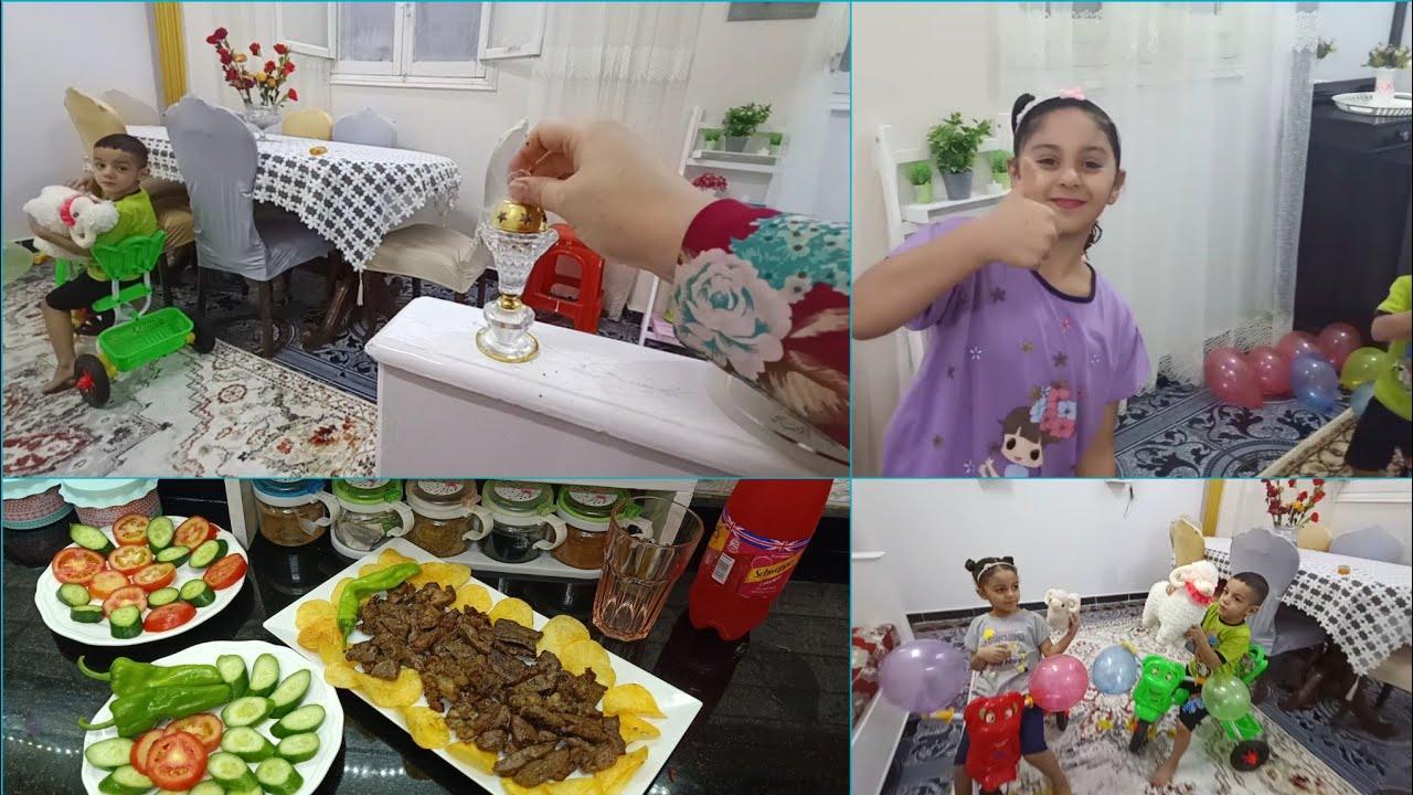 روتين العيد..وطلينا بلبس العيد الجديد👸🤴|| رغم بساطته كانو طايرين بيه وفرحتهم بهدايا العيد..🚴