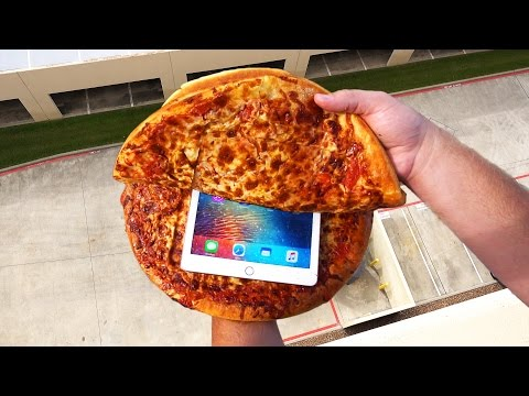 Thumbnail: Can Two Chicago Style Pizzas Protect an iPad Pro from a 100 FT Drop Test?
