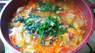 Вкусный постный суп с баклажанами в мультиварке. Простой пошаговый видео рецепт