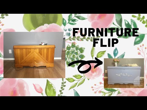 Refinishing A Cedar Chest With Country Chic Paint And Redesign By Prima