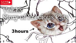 【塗り絵】春夏秋冬おしゃまな猫の物語 発売記念グッズ製作