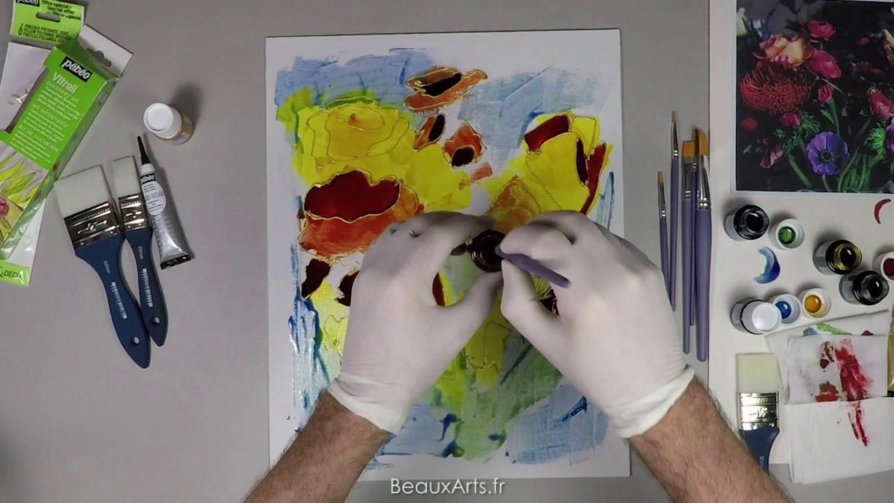 peinture sur toile vitrail