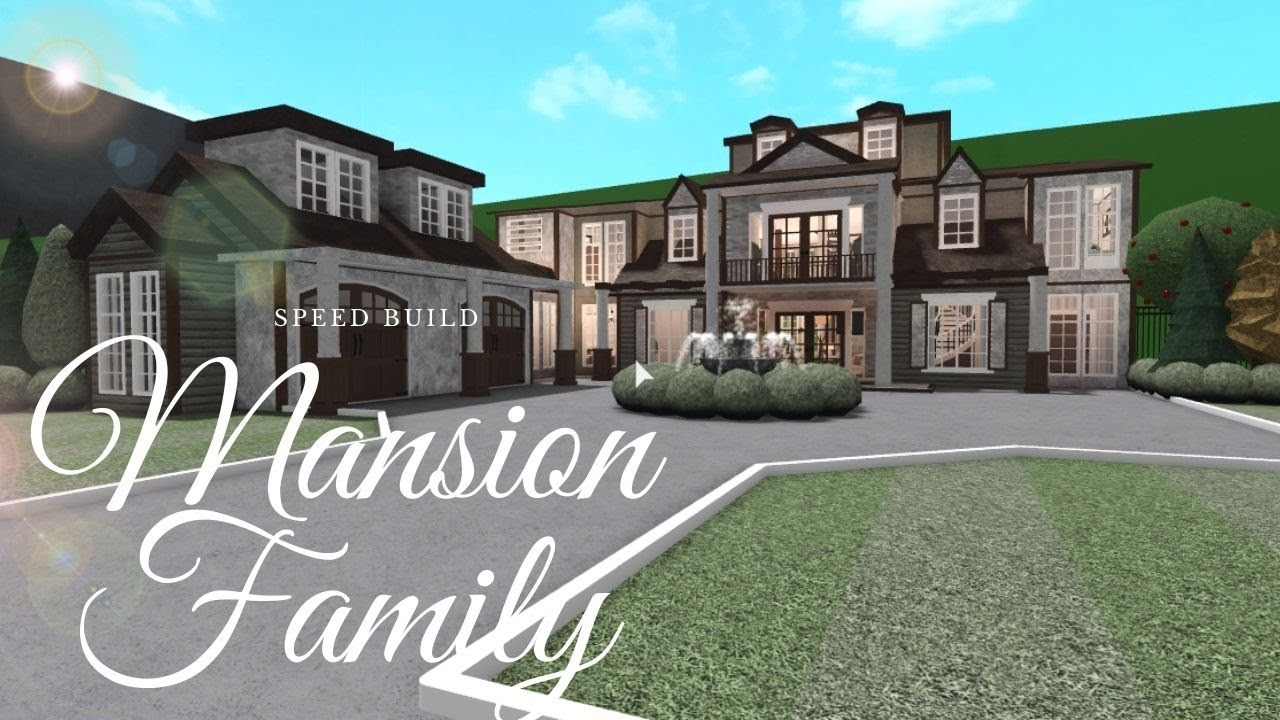 Bloxburg Family Mansion Family House Speed Build Exterior Youtube Beautiful House Plans Mansions House Outside Design